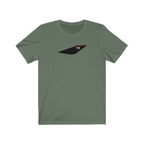 F-117A NIGHTHAWK TR TAIL AND TOP SILHOUETTE Unisex Short Sleeve T-Shirt