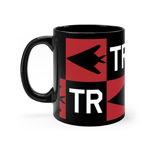 F-117 NIGHTHAWK CHECKERBOARD TR Black mug 11oz
