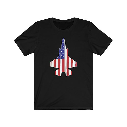 F-35 USA PATRIOTIC SILHOUETTE Unisex Short Sleeve T-Shirt