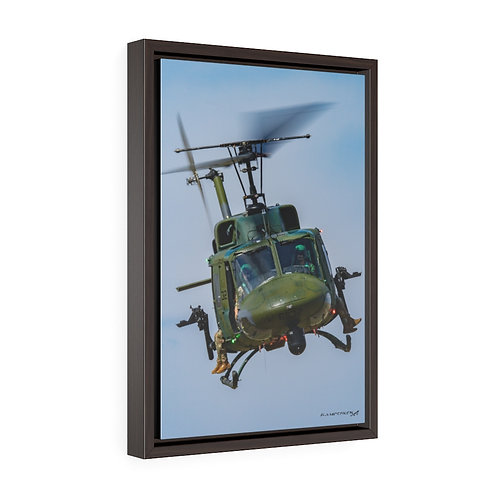 UH-1N FE WARREN AFB, WYOMING Vertical Framed Premium Gallery Wrap Canvas