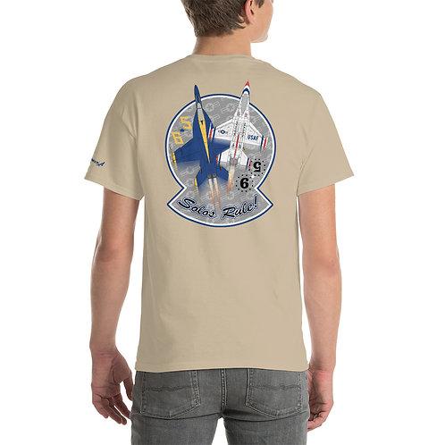 UNOFFICIAL USN BLUE ANGELS USAF THUNDERBIRDS SOLOS RULE! PREMIUM HW T-shirt