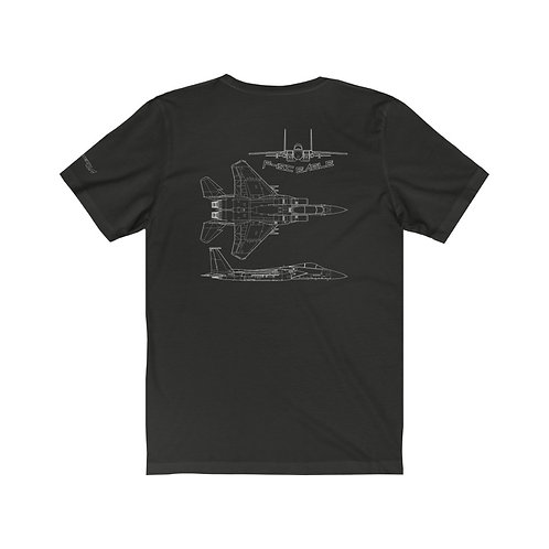F-15C EAGLE MULTI VIEW WHITE PRINT Unisex T-Shirt