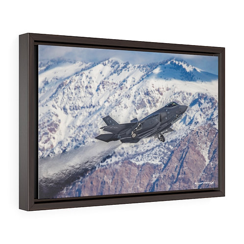 F-35A LIGHTNING II JELLY HILL AFB, UTAH Framed Premium Gallery Wrap Canvas