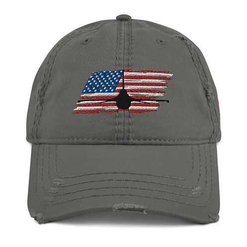 F-16 FIGHTING FALCON USA Distressed Hat