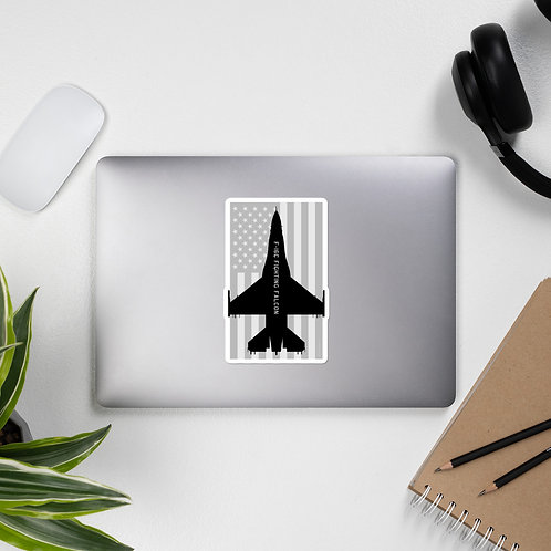 F-16C FIGHTING FALCON USA BLACK AND GRAY STICKER