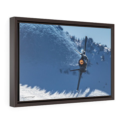 F-35A LIGHTNING II DEMO JELLY HILL AFB, UTAH Framed Premium Gallery Wrap Canvas
