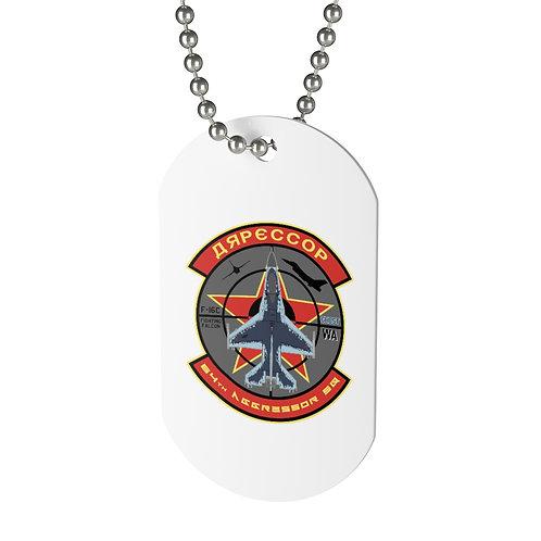 UNOFFICIAL F-16C GHOST 64TH AGGRESSOR LOGO Dog Tag