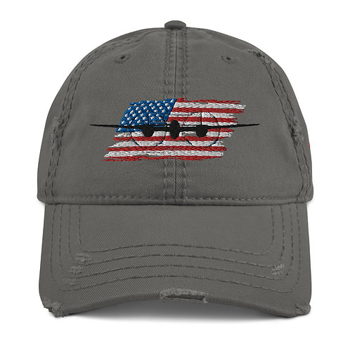 P-38 LIGHTNING Distressed USA Hat
