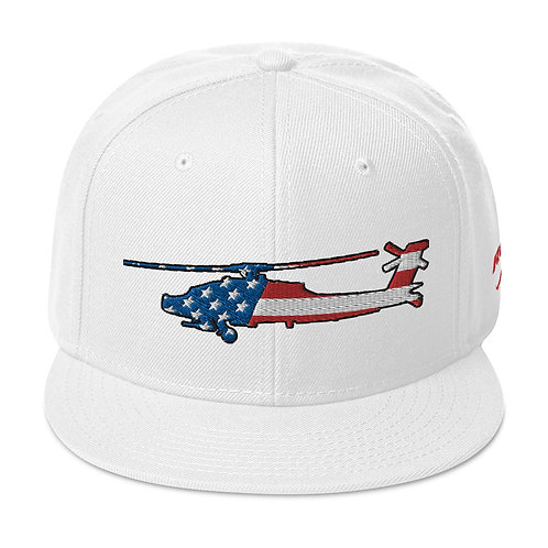 AH-64 APACHE USA SIDE PROFILE Snapback Hat