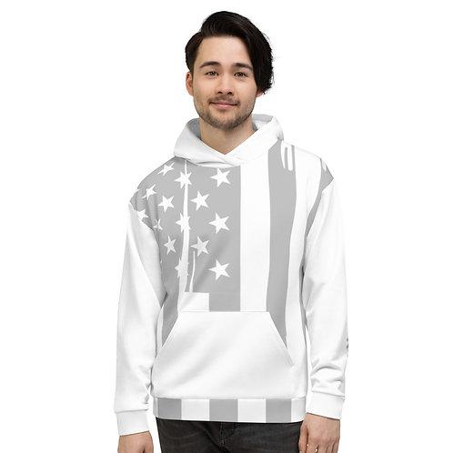 RAMPCHECK USA GRAY PRINT WHITE Unisex Hoodie