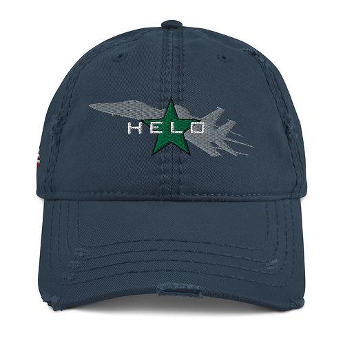 F-15E STRIKE EAGLE HELO KILL GREEN STAR Distressed Hat
