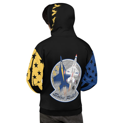 UNOFFICIAL USN BLUE ANGELS USAF THUNDERBIRDS SOLOS RULE! USA Unisex Hoodie