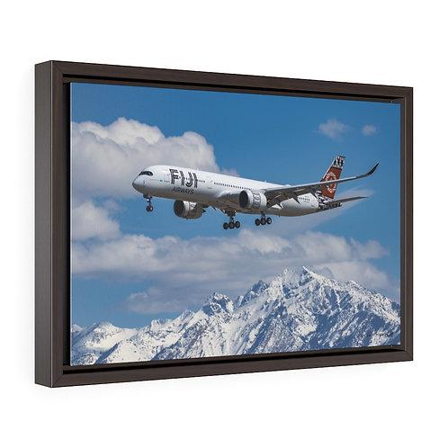 FIJI A350 SALT LAKE CITY, UTAH Framed Premium Gallery Wrap Canvas