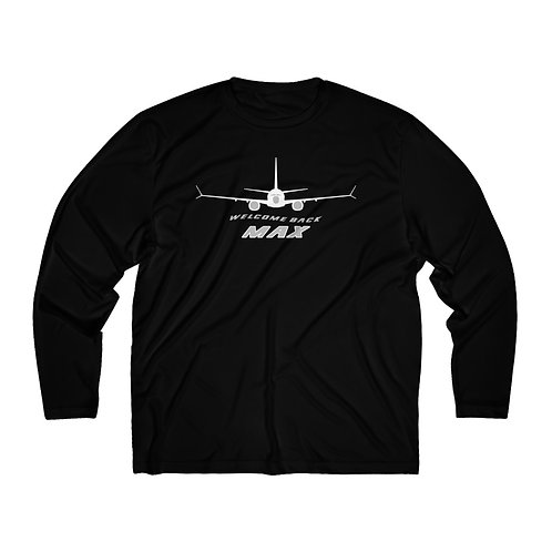 737 MAX WELCOME BACK MAX Men's Long Sleeve Sport Tee