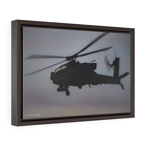 AH-64D APACHE DUSK Framed Premium Gallery Wrap Canvas