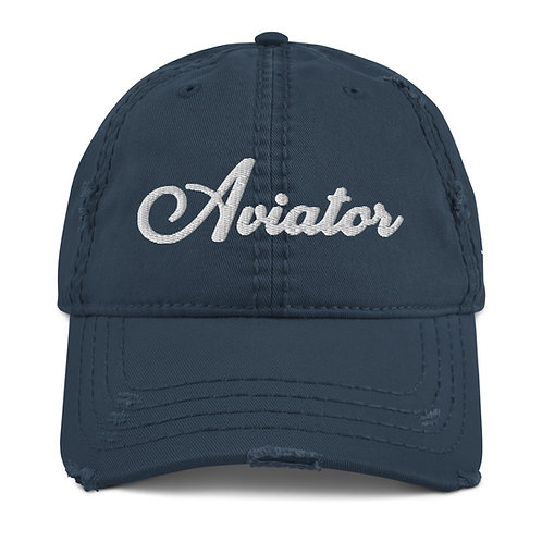 AVIATOR Distressed Dad Hat