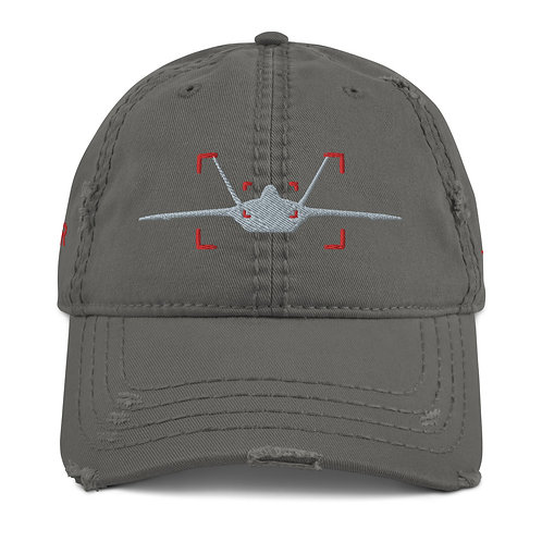 LOCKED ON RAPTOR AVIATION PHOTOGRAPHY Distressed Dad Hat
