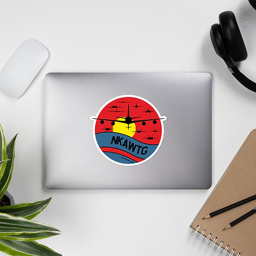 NKAWTG RETRO SUNSET STICKER