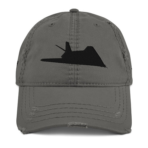 F-117 STEALTH Distressed Dad Hat