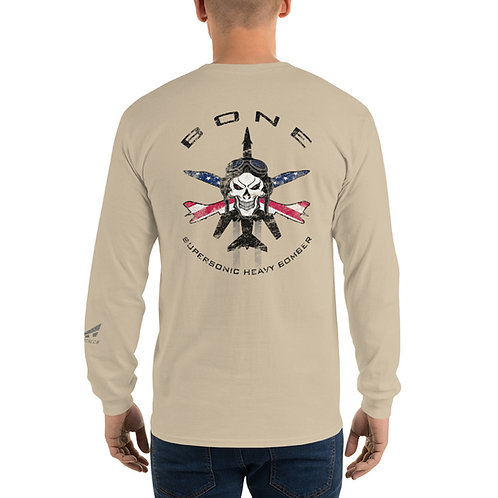 SKULL & CROSS BONES SUPERSONIC HEAVY BOMBER USA Long Sleeve T-Shirt