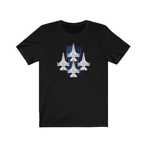 UNOFFICIAL USAF THUNDERBIRDS F-16C USA DIAMOND Lightweight T-shirt