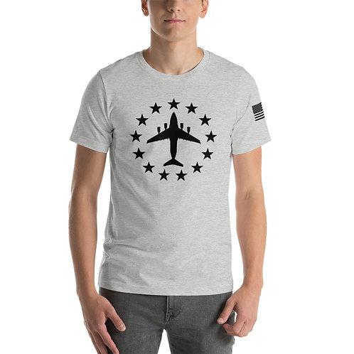 C-17 FREEDOM STARS BLACK PRINT Lightweight T-shirt