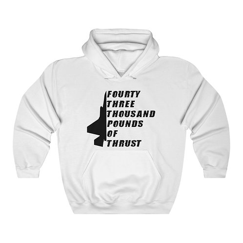 F-35 FOURTY THREE THOUSAND POUNDS OF THRUST Unisex Heavy Blend Hoodie