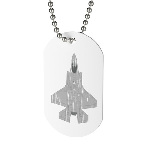 SHREDDED F-35A LIGHTNING II Dog Tag