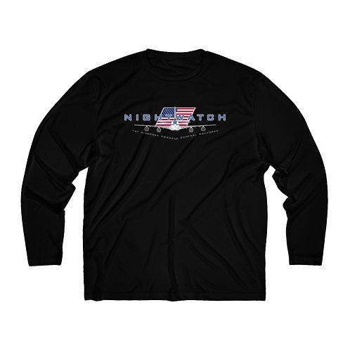 E-4 NIGHTWATCH 1ACCS USA Men's Long Sleeve Sport Tee