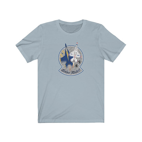 UNOFFICIAL USN BLUE ANGELS USAF THUNDERBIRDS SOLOS RULE! Lightweight T-shirt