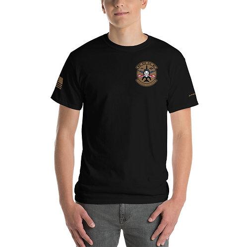 UNOFFICIAL USAF BONE SKULL & CROSS BONES USA PREMIUM Heavyweight T-shirt