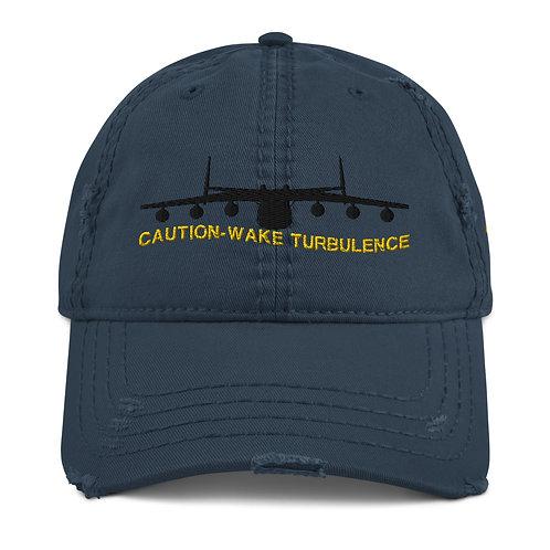AN-225 CAUTION WAKE TURBULENCE Distressed Hat