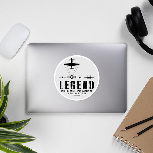 LEGEND CHUCK YEAGER CIRCLE TRIBUTE STICKER