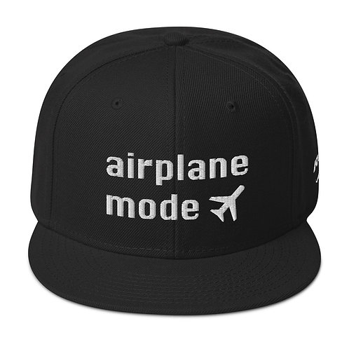 AIRPLANE MODE Snapback Hat
