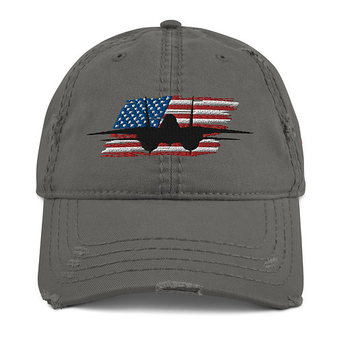 F-14 TOMCAT USA Distressed Hat