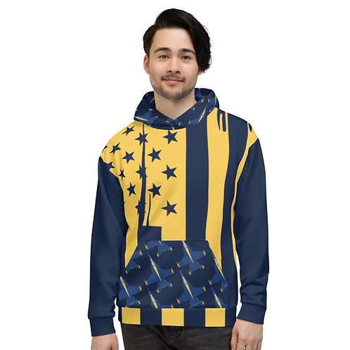 UNOFFICIAL USN BLUE ANGELS F/A-18E RHINO BLUES USA Unisex Hoodie