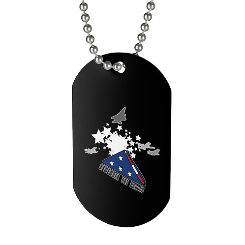 REMEMBER THE FALLEN MISSING MAN FOLDED US FLAG Dog Tag