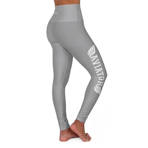 AVIATOR WINGS GRAY High Waisted Yoga Leggings