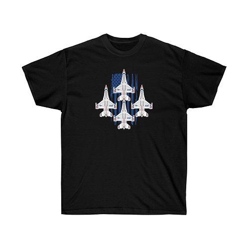 UNOFFICIAL USAF THUNDERBIRDS F-16C USA DIAMOND Heavyweight T-shirt