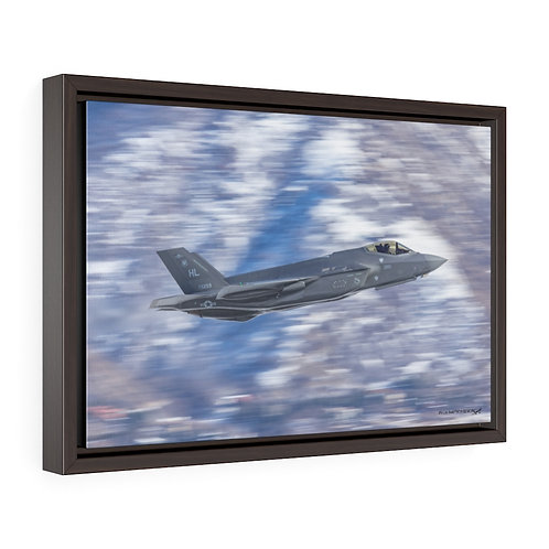F-35A LIGHTNING II RUDE RAM HILL AFB, UTAH Framed Premium Gallery Wrap Canvas