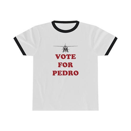 HH-60 VOTE FOR PEDRO Ringer Short Sleeve T-Shirt