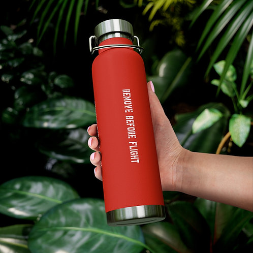 REMOVE BEFORE FLIGHT 22oz Insulated Bottle