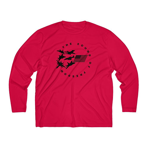 THE SOUND OF FREEDOM USN USMC FIGHTER & ATTACK Men's Long Sleeve Sport Tee
