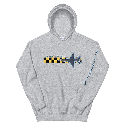UNOFFICIAL 64 AGRS F-16C GHOST CHECKERBOARD Unisex Hoodie
