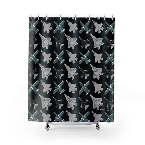 UNOFFICIAL USAF ACC DEMO TEAMS Shower Curtains