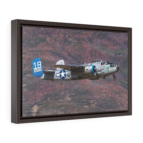 B-25 MITCHELL MAID IN THE SHADE HEBER, UTAH Framed Premium Gallery Wrap Canvas