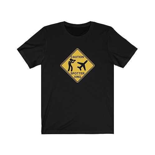 CAUTION SPOTTER XING SIGN Unisex Short Sleeve T-Shirt