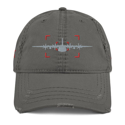 LOCKED ON HERK AVIATION PHOTOGRAPHY Distressed Dad Hat