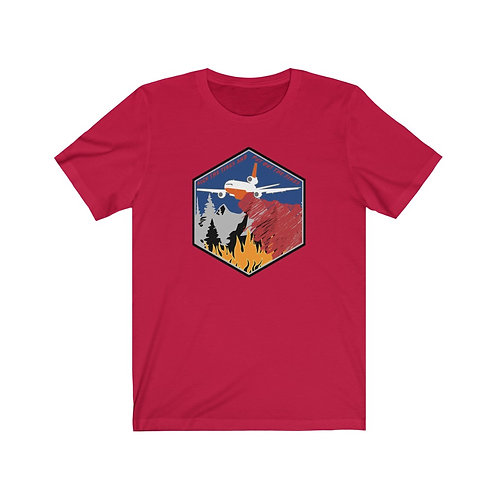 DC-10 TANKER KICK THE TIRES AND PUT OUT THE FIRES Unisex Short Sleeve T-shirt