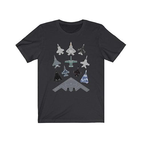 US MILITARY RANDOM MASS FORMATION Unisex Short Sleeve T-shirt